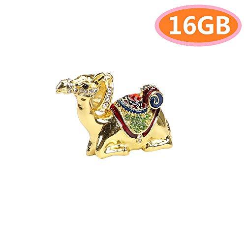 samLIKE Funny Flash Drive Weihnachten Rentier Memory Stick mit Schlüsselring 128MB-128GB Externer Expansion Speicherstick USB Stick, für PC/Laptop und andere USB-Geräte (16GB)