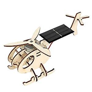 Mumusuki DIY Holz Solar Energy Aircraft Pädagogisches Spielzeug Handwerk Modell Wonderful Kid Geschenk