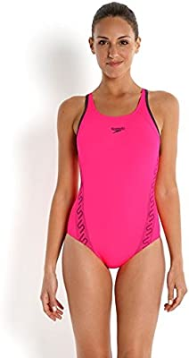 Speedo Badeanzug Monogram Muscleback Bañador de Competición, Mujer
