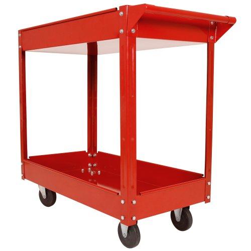 Jago Montage-Werkzeug-Trolley mit 2Böden, für die Werkstatt, Tragkraft bis zu 100kg