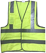 Apex High visual Knit Fabric Reflective Safety Vest with pockets - yellow