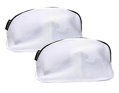 Rooxs ® Profi Schuh Wäschenetz Set (2 Teile) für Waschmaschine, Wäschesack Waschnetz Schuhe Sneaker Turnschuhe Netz Wäschbeutel Pack Waschesäcke mit Reißverschluss
