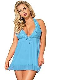 Blaues babydoll kleid