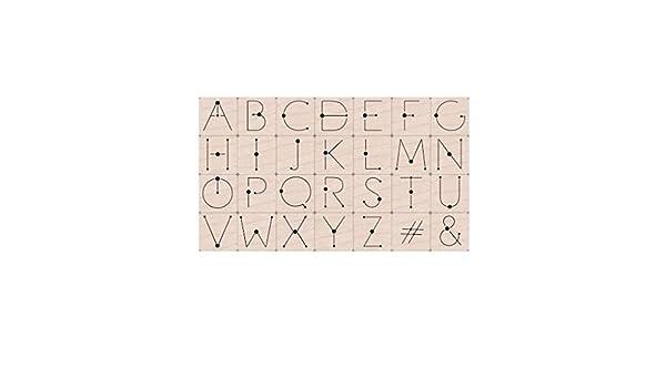 Hero Arts LP485 Woodblock Stamps Modern Dot Alphabet