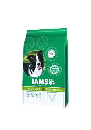 IAMS for Vitality Small/Medium Breed Adult Dry Dog Food with Fresh Chicken, 3 kg 1