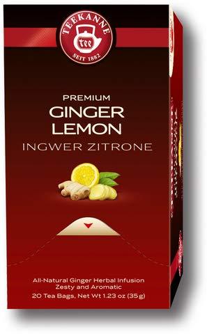 TEEKANNE Früchtetee Premium Ingwer Zitrone, Beutel aromaversiegelt, 20 x 1,75 g (20 Stück), Sie erhalten 1 Packung á 20 Stück -