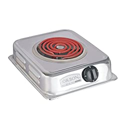 Orbon 1250-Watt Silver G Coil Electric Heater / Induction Cookers / Handy G Coil Cooktop ( With 2 Mtr. Wire Cord ) ( HUGE DIWALI DISCOUNT & FREE SHIPPING )