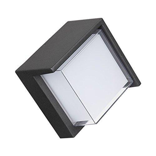 CKH Terrasse-Lampe im Freien Balkon-wasserdichte geführte Lichter Superhelles Haus-moderne einfache kreative Garten-Landhaus-Wand-Lampe im Freien (Krieg Haus)