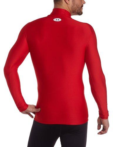 Under Armour Herren Shirt CG Compression Evo Mock Rot/Weiß
