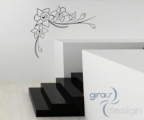Graz Design 810349_90_090 Wandtattoo Tattoo Aufkleber für Halloween Schriftzug Mitternacht Haus Friedhof , 162 x 90 cm, silbergrau
