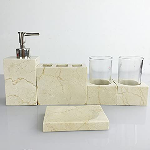 Creative in resina pennello WC Bagno Becher Vanity Comfort Kit