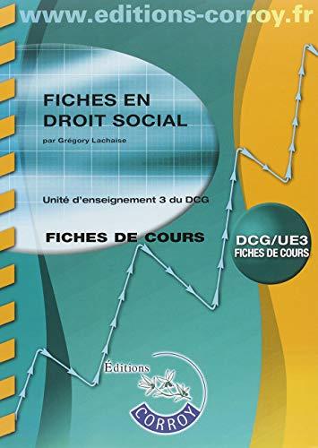 Fiches en droit social: UE 3 du DCG par  Grégory Lachaise