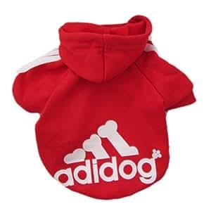 Zehui Pull à capuche pour chien/chat Rouge Taille XL