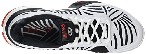 adidas Barricade 2016 Boos, Chaussures de Tennis Homme Multicolore (Core Black/Ftwrr White/Red)