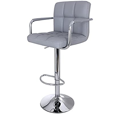 Songmics Faux Leather Breakfast Kitchen Bar Stool with Backs Armrests produced by Songmics - quick delivery from UK.