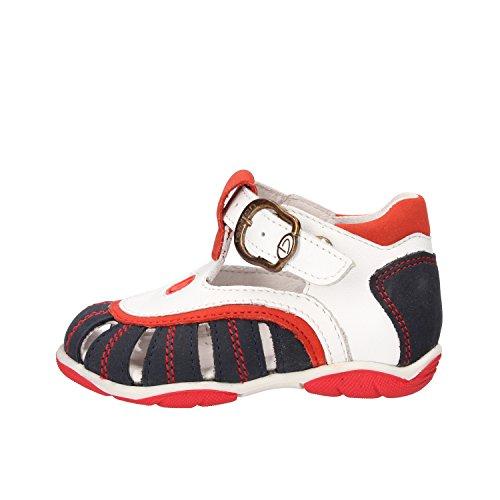 BALDUCCI sandali bambino blu pelle bianco pelle scamosciata AF340 (18 EU)