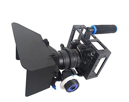 Preisvergleich Produktbild Gowe 3in1DSLR Cage Kit Handheld Stabilisator Mount Rig + Matte Box + Follow Focus für Canon 5D 6D 7D 60D 5DII 5DIII Kamera Video Camcorder