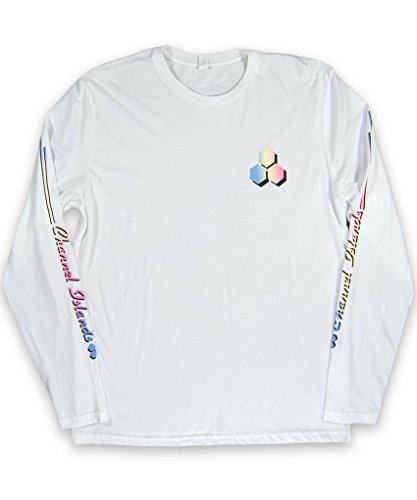 Channel Islands Surfbretter, Schiene Long Sleeve T-Shirt, weiß, Größe S (S/s Shirt Surfboard)