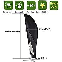 Anderlay Housse pour Parasol Housse de Protection Parasol Imperméable Résistant à UV Intempéries avec Sac de Rangement 265× 70 ×50CM