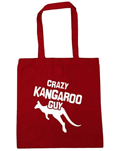 hippowarehouse-crazy-kangaroo-guy-tote-shopping-gym-beach-bag-42cm-x38cm-10-litres