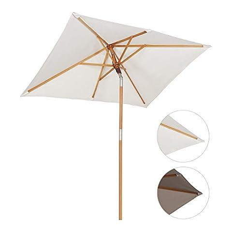 Parasols Blanc - Sekey® 200 × 150 cm Parasol en