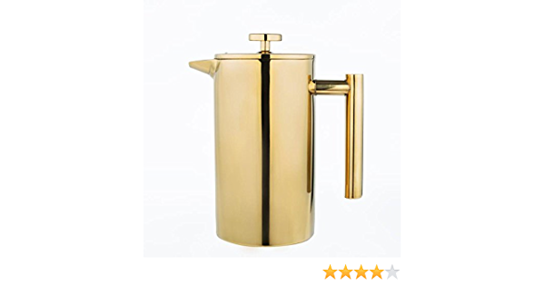 5 Tassen Silber 0,8 Liter Coffee Press Miuly Kaffeepresse French Press 800ml Kaffeebereiter Doppelwandige Edelstahl Franz/ösische Kaffeepresse mit 2 zus/ätzlichen Filtersieben