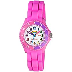 TIKKERS GIRLS TIME TEACHER PINK RAINBOW THEME WATCH - NTK0005