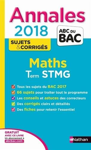 Maths terminale STMG : annales 2018