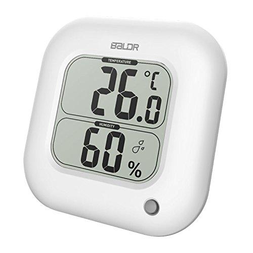 Baldr digital Thermometer/Hygrometer, groß innen Raumthermometer und Luftfeuchtigkeit-messgerät 11 x 2.3x 11cm