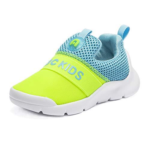 ABC KIDS Baby Jungen Mädchen Slip-On Sneakers Outdoor Schuhe Atmungsaktive Laufschuhe mit Weicher Sohle (Kids Slip On)