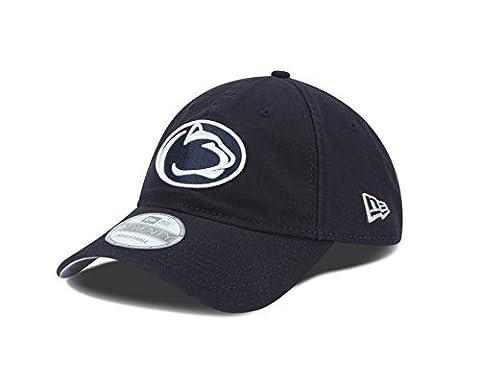 NCAA Penn State Nittany Lions Unisex New Era NCAA Core Shore Primary 9TWENTY Adjustable Cap, Navy, One Size