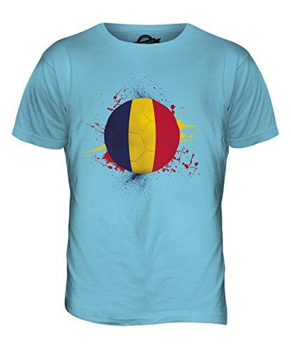 CandyMix Tchad Fußball Herren T Shirt Himmelblau