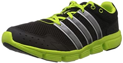 adidas Men's Breeze 101 M Black, Solar Slime and Metallic Silver Mesh Running Shoes - 7 UK
