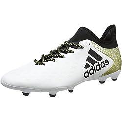 adidas X 16.3 FG, Scarpe da Calcio Uomo, Bianco (Ftwr White/Core Black/Gold Metallic), 41 1/3 EU