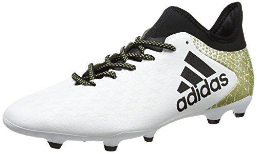 Adidas X 16.3 Fg, Scarpe da Calcio Allenamento Uomo, Multicolore (Ftwwht/Cblack/Goldmt), 40 EU