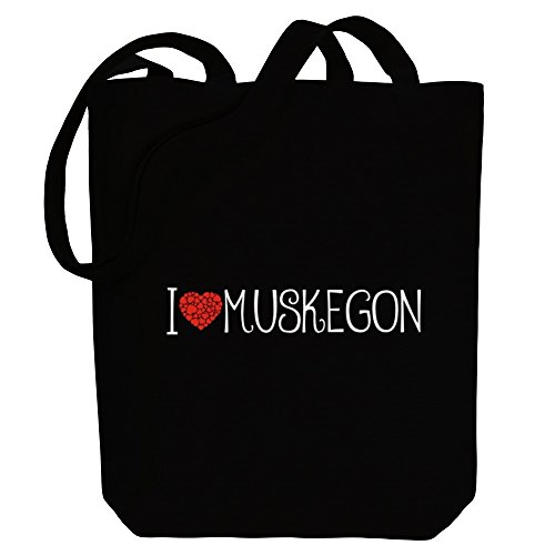 Idakoos I love Muskegon cool style - US Städte - Bereich für Taschen