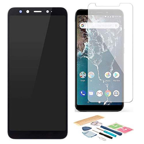 Pantalla LCD Táctil Asamblea Repuesto Compatible con Xiaomi Mi A2 Negro con Herramientas + Película Templada Xiaomi Mi A2 + Adhesivo 3M