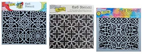 hablonen-Set für marokkanisches, mexikanisches, portugiesisches Fliesendesign 15,2 x 15,2 cm Vorlagen für Kunst, Kartengestaltung, Journaling, Scrapbooking ()