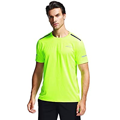 Akilex Sports T Shirt For Men Dry Quick Running Top Mens Short Sleeve Athletic Gym Workout Comfortable Dry Fit Shirts 100% Polyester