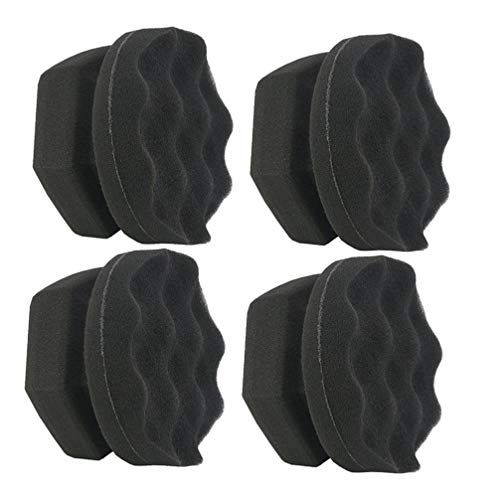 ge Wave Pattern Polishing Pads for Car Vehicle Cleanning 4Pcs (Black) ()