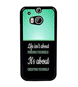 PrintDhaba Quote D-3291 Back Case Cover for HTC ONE M8s (Multi-Coloured)