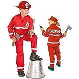 FASCHING 11302 Kinder- Kostüm Feuerwehrmann, 2tlg., Feuerwehr: Größe: 098
