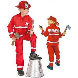 FASCHING 11302 Kinder- Kostüm Feuerwehrmann, 2tlg., Feuerwehr: Größe: ()