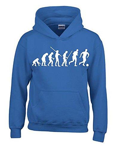 inder Sweatshirt mit Kapuze HOODIE blau-weiss, Gr.140cm ()