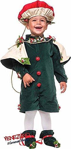 Italian made Deluxe Baby & Kleinkinder Jungen PILZ Pilz König natur Karneval Halloween Buch Tag Woche Kostüm Kleid Outfit 1-3 Jahre - 2 years
