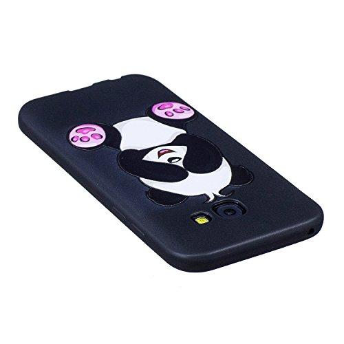 A5 2017 Hülle ,Samsung A5 2017 Shell Case , Galaxy A5 2017 Black Hülle, Cozy Hut® [Liquid Crystal] [Matte Black] [With Lanyard/Strap] Samsung Galaxy A5 2017 Ultra Slim Schutzhülle ,Anti-Scratch Shockp Cartoon-Panda