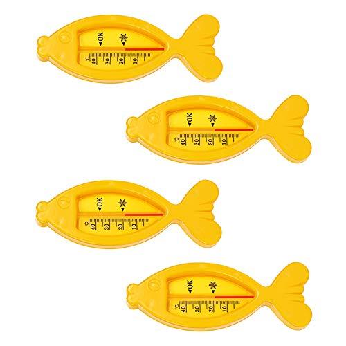 er Badespielzeug Fisch Spielzeug Geschenk Säuglingsther mometer Ozean Badewannenspielzeug Sandspielzeug für Baby Jungen oder Mädchen, Badewanne und Schwimmbad,Gelb ()
