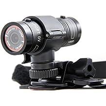 Andoer - Mini Cámara de acción deportiva impermeable Full HD 1080P (grabadora, portátil, VR de coche(carro), Cámara del casco F9 5MP H.264 con gran angular de 120 grados de alta resolución)