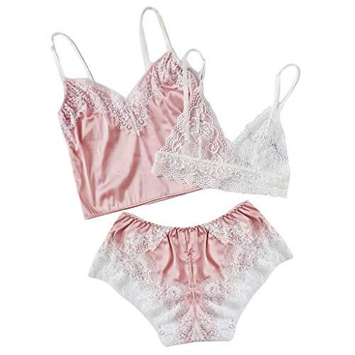 Lialbert Sexy Pizzo Squisito Lingerie Bra + Top + Set Intimo Babydoll  Sleepwear da Notte 2c23297e216