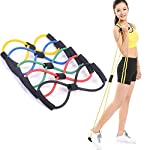 KS HEALTHCARE Chest Expander Resistance 8 Type Muscle Chest Expander Rope Workout Pulling Exerciser Fitness Exercise Tube...